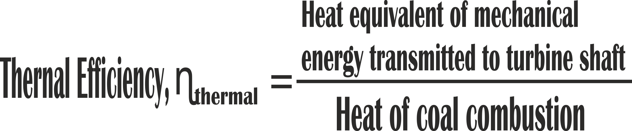 thermal efficiency of thermal power plant
